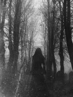 dark forest, goth girl, death, cemetery! I wanna blow this up and frame it!!!!-EMMA K