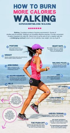 How to Burn More Calories Walking by superskinnyme #Walking #Workout