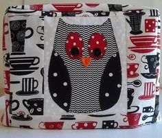 2 Slice Toaster Cover with Owl by PatsysPatchwork on Etsy, $18.00