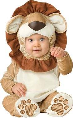 Amazon.com: InCharacter Unisex-baby Infant Lovable Lion Costume, Brown/Tan/Cream, Medium: Infant And Toddler Costumes: Clothing