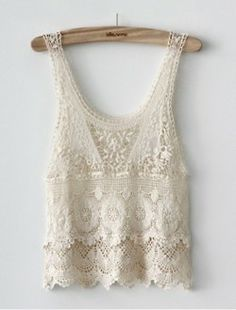Cute White Crochet Lace Vest (would look good w/ a solid neutral bandeau) Beauty And Fashion, Look Fashion, Passion For Fashion, Womens Fashion, Street Fashion, Fashion Photo, Unique Fashion, Fashion Outfits, Tee Shirt Dentelle