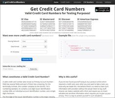 credit cards numbers that work Fake Credit Card Nu - Credit Card App, Credit Card Images, Credit Card Hacks, Credit Card Design, Credit Card Offers, Credit Cards, Visa Card Numbers, Gift Card Number, Get Gift Cards