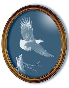 The Promise Eagle Art Etched Medium Oval Mirror