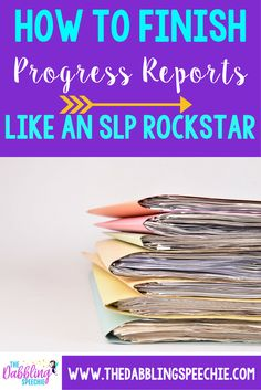How to finish progress reports like a rock star! from The Dabbling Speechie. Pinned by SOS Inc. Resources. Follow all our boards at pinterest.com/sostherapy/ for therapy resources.