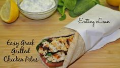Trying to Eat Lean-Easy Greek Grilled Chicken Pitas With Tzatziki Sauce