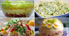 7 Healthy Salad Recipes For Weight Loss - Rezepte Einfache Wonton Wrappers, Healthy Salad Recipes, Party Snacks, Guacamole, Potato Salad, Chicken Recipes, Food And Drink, Health Fitness, Low Carb