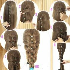Colorful Different Size Plastic Hair Braid Ponytail Makers Styling Loops Tool : Beauty Braided Ponytail Hairstyles, Ponytail Styles, Braided Hairstyles, Short Hair Styles, Braid Ponytail, Trendy Hairstyles, Short Haircuts, Toddler Hair, Hair 2018