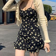Indie Outfits, Cute Casual Outfits, Fashion Outfits, Grunge Outfits, Casual Black Dresses, Dress Black, Grunge Dress, Aesthetic Clothing Stores, Aesthetic Clothes