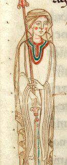 12. JH Douai B.M., ms 0399, langer Schleier mit Dekoration am inneren unteren Rand