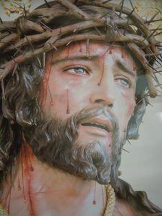 Christ Tattoo, Jesus Tattoo, Image Jesus, Jesus Our Savior, Christ In Me, Pictures Of Jesus Christ, Jesus Face, Jesus On The Cross, Son Of God