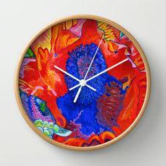 Japanese Poppy No.9  Wall Clock by Morgan Ralston - $30.00