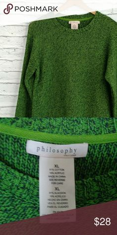 ⭐⭐SALE⭐⭐⭐Philosophy marled green sweater Philosophy marled green sweater Philosophy Sweaters