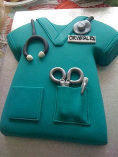 Nurse cake- color of scrubs
