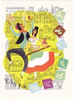 Vintage Italian Posters ~ #illustrator #Italian #posters #vintage ~ Vintage Italian illustration