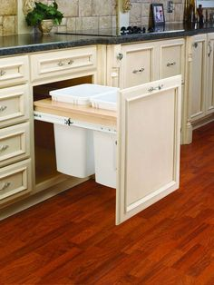 Buy the Rev-A-Shelf Natural Wood Direct. Shop for the Rev-A-Shelf Natural Wood Top Mount Double Bin Trash Can with Full Extension Slides - 35 Quart Capcity per Bin and save. Kitchen Storage, Kitchen Decor, Closet Storage, Kitchen Waste, Diy Kitchen Cabinets, Pantry Storage, Kitchen Paint, Kitchen Shelves, Kitchen Organization