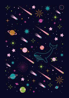 Imagen de comet, cosmic, and galaxy