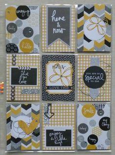 Grey and yellow Pocket Letter Pocket Pal, Pocket Cards, Scrapbook Paper Crafts, Scrapbook Cards, Mini Albums, Project Life Cards, Pocket Scrapbooking, Pocket Letters, Artist Trading Cards