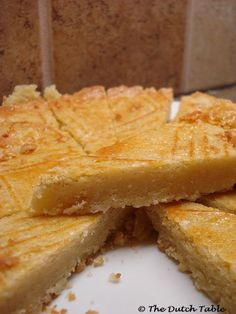 The Dutch Table: Boterkoek--- I make mine with Almond extract instead of vanilla and lemon.