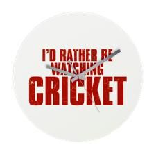 Id Rather Be Watching Cricket Frameless Wall Cloc