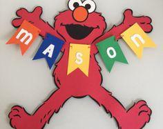 Elmo Happy Birthday Banner by on Etsy Birthday Name, Boy Birthday Parties, Elmo Birthday Party Ideas, Happy Birthday, Ideas Party, Sesame Street Party, Sesame Street Birthday, Elmo Party, Baby Shower