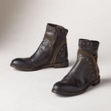 Studded and smart, these Italian leather boots by BedStü bring distinctive styling to your seasonal footwear.