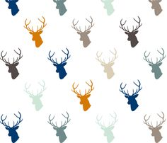 This is the fabric i picked out for Cole's nursery: Navy Orange Deer fabric by mrshervi on Spoonflower - custom fabric