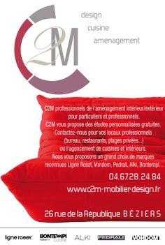 Insertion presse Ligne Roset C2M Ligne Roset, Restaurants, Flyers, Kitchen Arrangement, Posters, Ruffles, Restaurant, Leaflets