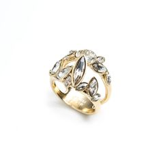 Gold Liquid Crystal Stacking Ring   Alexis Bittar
