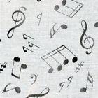 Live Jazz~Music Cotton Fabri by Elizabeth's Studio