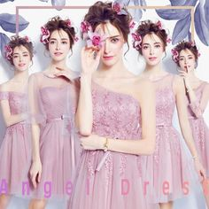 Rose pink bridesmaid short paragraph dress $78 => Save up to 60% and Free Shipping => Order Now! #fashion #woman #shop #diy www.weddress.net/...