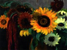 Sunflowers and Foxtail  Emil Nolde - 1937