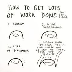 How to Get Lots of Work Done by Beth Evans