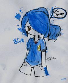 Inazuma Eleven Fanart-Kazemaru Ichirouta/Nathan Swift. Nothing to say D> Title: Splash·Blue