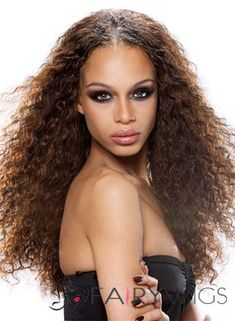 Gracefull Long Curly Brown No Bang African American Lace Wigs for Women 20 Inch Remy Human Hair, Remy Hair, Human Hair Wigs, Long Curly Hair, Curly Hair Styles, Natural Hair Styles, Celebrity Wigs, Cheap Wigs, Wigs Online