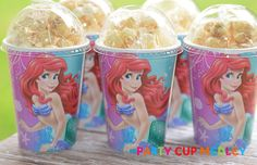 Little Mermaid Birthday Party CupsPopcorn BoxSet by PartyCupMedley, $8.40