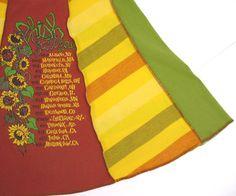 Phish Sunflowers Tee Skirt womens Large XL by RunzwithScissors