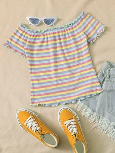 Cute Girl Outfits, Casual Outfits, Fashion Outfits, Trendy Fashion, Fashion News, Rib Knit, Clothes, Tops, Lettuce