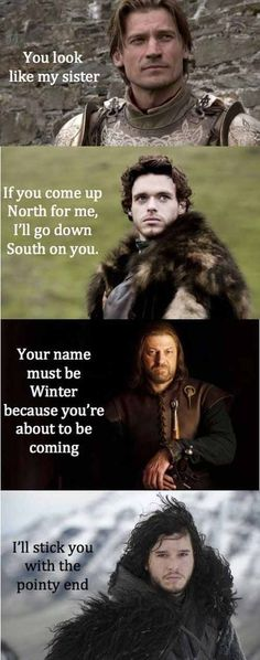 Game of thrones pick up lines