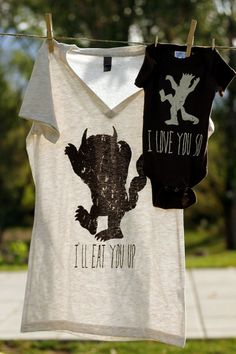 And another!  Mommy and Me Shirt Set: Where the Wild Things Are Inspired. $30.00, via Etsy.