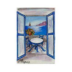 (Ελληνικά) Χειροποίητος πίνακας ζωγραφικής με τοπίο πάνω σε ξύλο ζωγραφισμένο με λαδομπογιάδες Landscape Paintings, Greek, World, Places, Handmade, Beauty, Hand Made, Landscape, The World