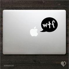 WTF Macbook Decal and iPad Decal / iPad Sticker door geekydecals, $4.50