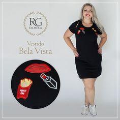 Amanhã é feriado, dia de usar roupa bonita e confortável e esse vestido preto super descolado, com apliques é o ideal, ainda fica lindo para ser usado com tênis. Aproveite e compre agora mesmo www.rgdamoda.com.br #plussize #souggedai #dress #modaplussize #bela #modagg #summer #verao2017 #rgdamoda #suaidentidadeplussize #emoticon #emoji #apliques #vocelinda #belasplussize #black