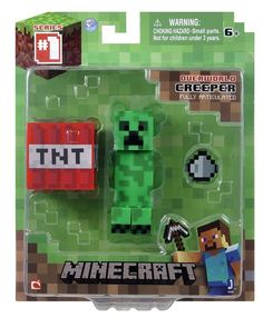 From the hit video game, Minecraft, bring home the Creeper action figure pack! Collect all Series Minecraft action figures! Minecraft Gifts, Minecraft Toys, Minecraft Party, Minecraft Stuff, Creepers, Minecraft Action Figures, Christmas Toys, Christmas Things, Toddler Girls