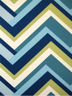"""Concorde Aqua Green - Duralee Fabric. Multi purpose chevron print decorator fabric for drapery panels or light to medium use upholstery. 100% cotton fialle. V 6.75"""", H 27"""". Clean code; S. 54"""" wide. Duraguard finish. Made in U.S.A."""