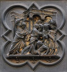 Гиберти. Северные врата Флорентийского баптистерия Сан Джованни Lorenzo Ghiberti, Flagellation, Sculptures, Lion Sculpture, Christian World, The Rite, Composition Design, Henry Moore, Chiaroscuro