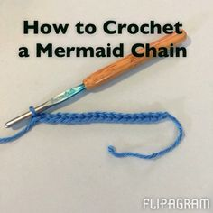 """Here is how I made my mermaids. (USA terms) (The chain count is: 4 chains on the starting and ending sides of the mermaids, 2 chains for each head, and 6…"""