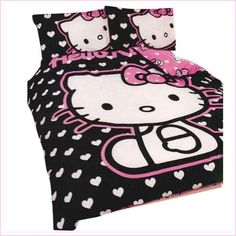 Single Double Hello Kitty Bedding Set Children Bed Sheets Hello