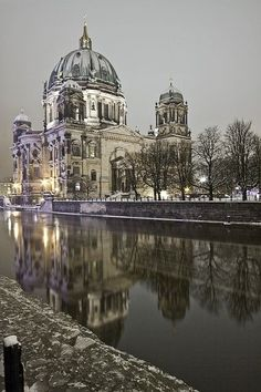 Night in Berlin, Germany