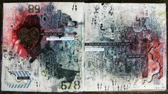Scrapholka: Kawa i Nozyczki art journal spread