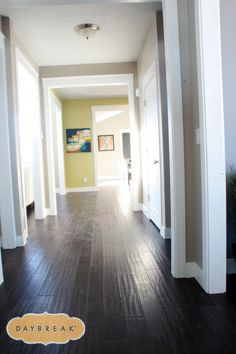 Nice wide hallways make a home feel so welcoming. It's amazing the difference a few inches can make! When building, consider how wide you want your hallways, but be aware that any square footage you add to your hallway will decrease your square footage elsewhere. An average hallway width is between two and a half to a little over three feet wide. Hallways can be, but are not commonly, as wide as five feet. Isn't this hallway just lovely?